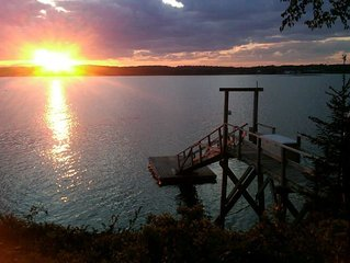 A Waterfront Casco Bay Retreat with Private Deep Water Dock.  Doggie Friendly!