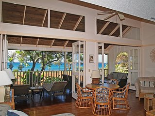 DIRECT OCEAN FRONT 1 bedroom On Kepuhi Beach…Sunny Westside...Sleeps 4