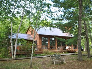 Beautiful Round Lake Northern Cedar Contemporary Vacation Home