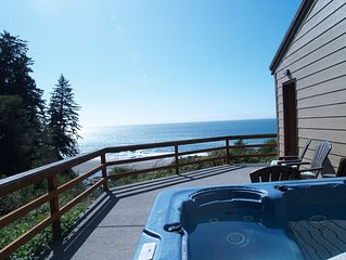 The Beach Bungalow ~ Ocean front, private beach & secluded hot tub!