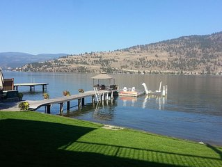 Fabulous Okanagan Landing Lakefront with large Dock & Boat Lift- great location!