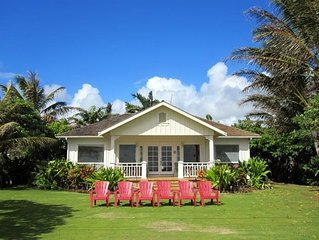 Oceanfront Hawaiian-Style Cottage ::  With Optional Guest Cottage