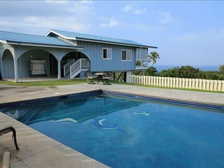 Hamakua Coast Home- Ocean Views, Private, Clean, Friendly