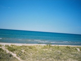 Lake Michigan Lake Front, 4 bdrms and 2 baths with Prvt Beach