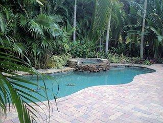 Spoonbill Hideaway-NOW FULLY OPEN!/Huge Pool/Spa/Across from Gulf Beach