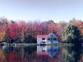 Poconos Lakefront with PRIVATE BEACH.