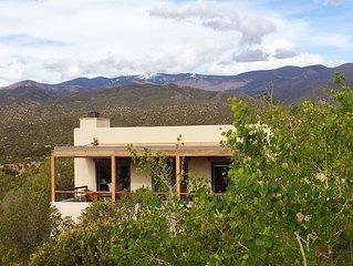 Exquisite Panoramic Views From This Elegant, Modern Ridge-top Adobe Casita