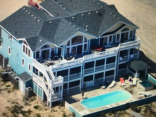 AMAZING 12 BEDROOM OCEANFRONT HOUSE IN 4-WHEEL DRIVE OUTER BANKS (Swan Beach)