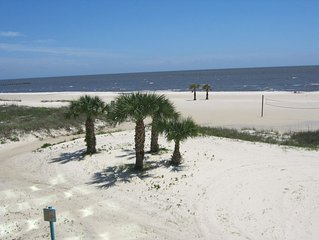 Biloxi Beach And The Gulf Of Mexico Are Your Back Yard At Sea Breeze Condos