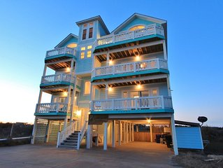 Famous Landshark! Luxury Oceanfront, 3d Theater, Elevator, Pool, Spa, Gameroom