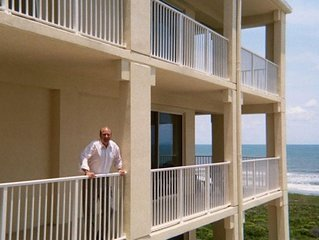 Biggest Balcony in Palm Coast: now with wall to wall WIFI & keypad entry.