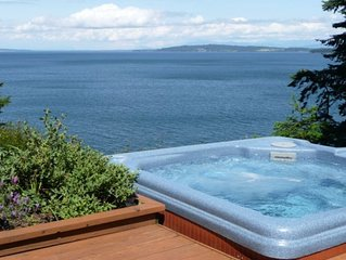 San Juan Islands:  Secluded Ocean Front Orcas Island Home with Spa