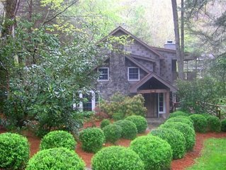 The historic Mill House on Mirror Lake and, Cullasaja River on 1 Acre