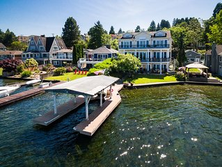 Located on the coveted shores of Lake Washington
