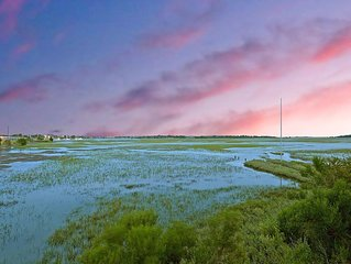 Palmetto Paradise! Overlooking Beautiful Marshland Sleeps 8!!!!