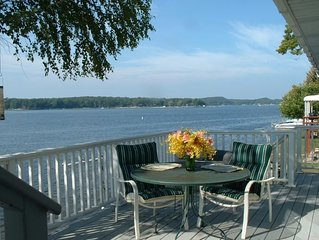 Large 4BR with 40' Private Dock on Pentwater Lake.