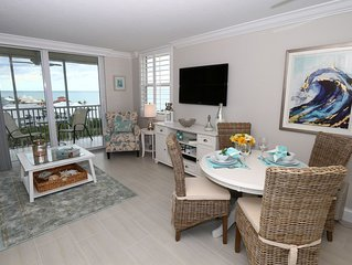 Penthouse Studio with Gulf Views, completely remodeled and beautifully appointed