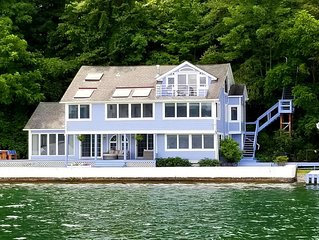 Spacious Lake Home, Amazing Views, Lakeside Lawn, Wrap Porch, Boathouse, Dock