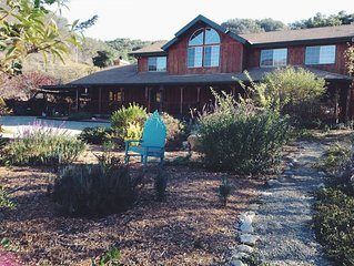 Peaceful 4 Bedroom 6 Acre Ranch House With Mountain Views In Beautiful Ojai