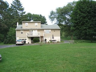 Spacious Owasco Lake Home for Large Groups, 2 Acres, Central Air
