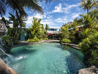 Incredible Oceanfront Home - Waipio Valley - Waterfall pool