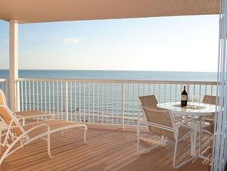 Spacious 1525  sq ft Gulf front condo, 2 bed, 2 bath, sleeps 8, top corner unit