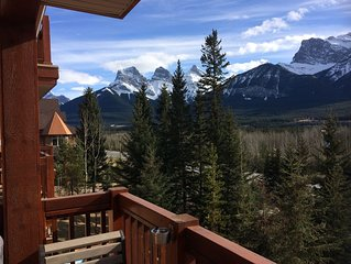 Canmore's Iconic 3 Sisters Mountain View On The Doorstep Of Banff Park