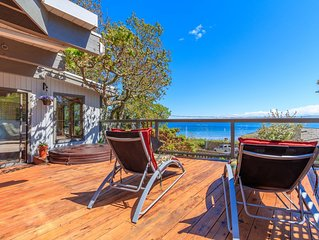 White Sandy Beach Steps Away ! Amazying Ocean Views !  Fire Pit Provided !