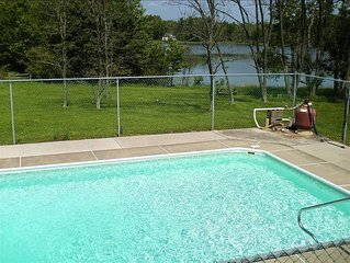 Lakefront w In ground Pool, Hot Tub, Boats, WIFI- Book Now for winter skiing