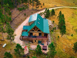 Black Hills Getaway- Alpine Prairie Lodge-  Beautiful Log Cabin on 8 acres.