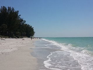 Right on the Gulf! Beautiful sandy beachfront, clean, safe, quiet, and friendly!