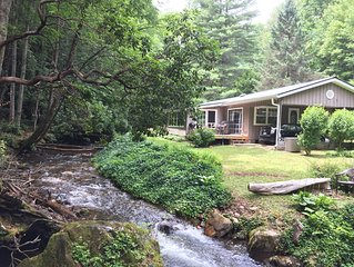 Gorgeous Creekside Retreat in the Nantahala National Forest