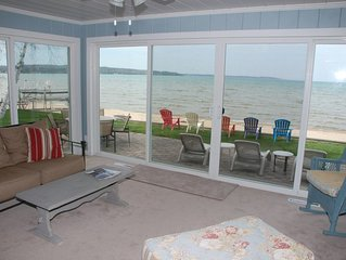 Located directly on East Grand Traverse Bay with private beach