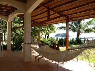 Two Story Beachfront House in Playa Samara - Steps to the Warm Ocean, with Wifi