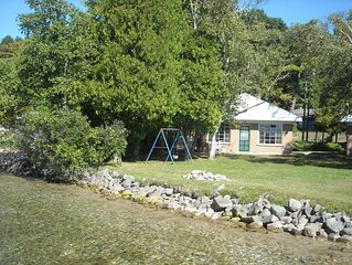 Stay on the water--Incredible Crystal Lake Lake Front Cottage!