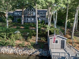 Gorgeous, luxurious lakefront home, Big water view - room to spread out!