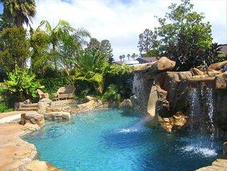 FALL SPECIAL PRICING! Huge Resort Style GetAway, Pool, Spa, Slide, Walk 2 Beach.