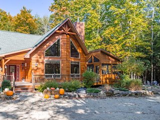 Immaculate 3 Bed / 2.5 Bath Hand-Hewn Log Cabin in Wooded Setting of Egg Harbor