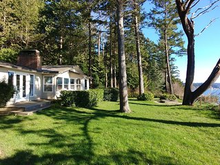 Large waterfront home, plenty of room inside and out - relax and enjoy the quiet