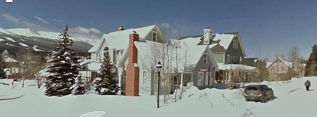 Casa de huéspedes en el invierno