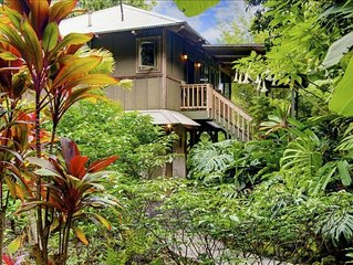 Tropical Romance... Lush Gardens.....Ocean View in Heavenly Hana, Maui