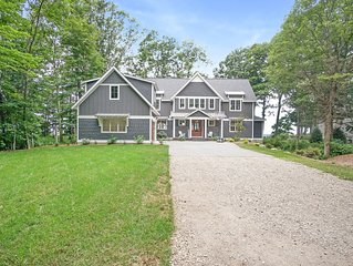 Newly built home on Lake Michigan with beach access