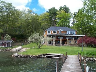 A LAKE HOUSE on LAKE GEORGE, a Private Beach, big Level Lawn & Waterfront
