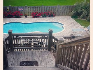 Private Saltwater Pool! Ocean Views! NEW Beach Access ACROSS STREET! Fresh&CLEAN