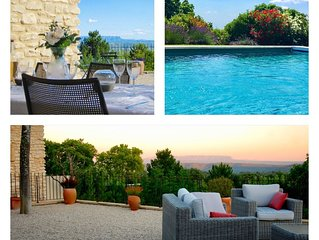 Beautiful Provençal house with views, pool & air conditioning