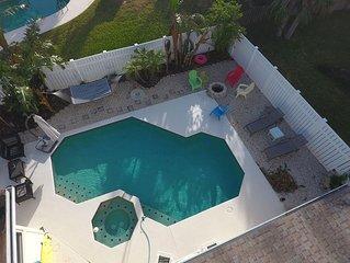 Fun Beachside Pool Home With Street Legal Golf Cart