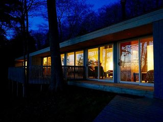 Good Hart Beach House on Lake Michigan. Cottage with Private Beach & Best Views!