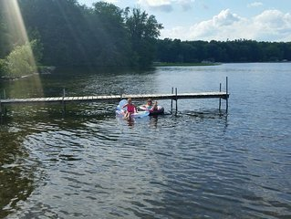Beautiful Lakefront Home. Enjoy the lake with canoe, kayaks and floats on site!