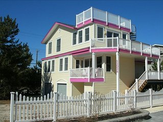 Harvey Cedars Oceanside on Private Drive with Ocean Views. 50 yards to the beach