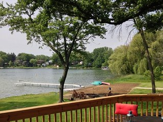 Beautiful Lakefront compound w/ private beach, next to Powers Lake